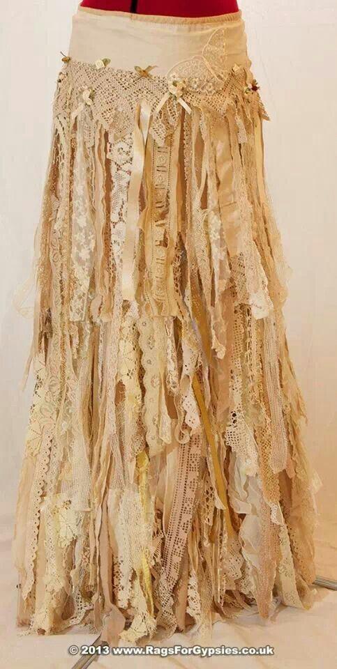Boho gypsy skirt.