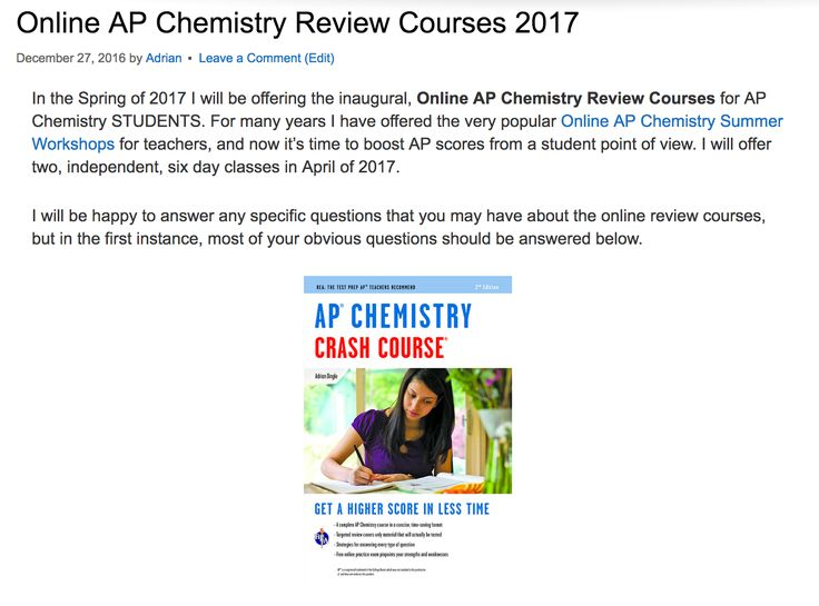 AP Chemistry – Students – AP Courses – The College Board