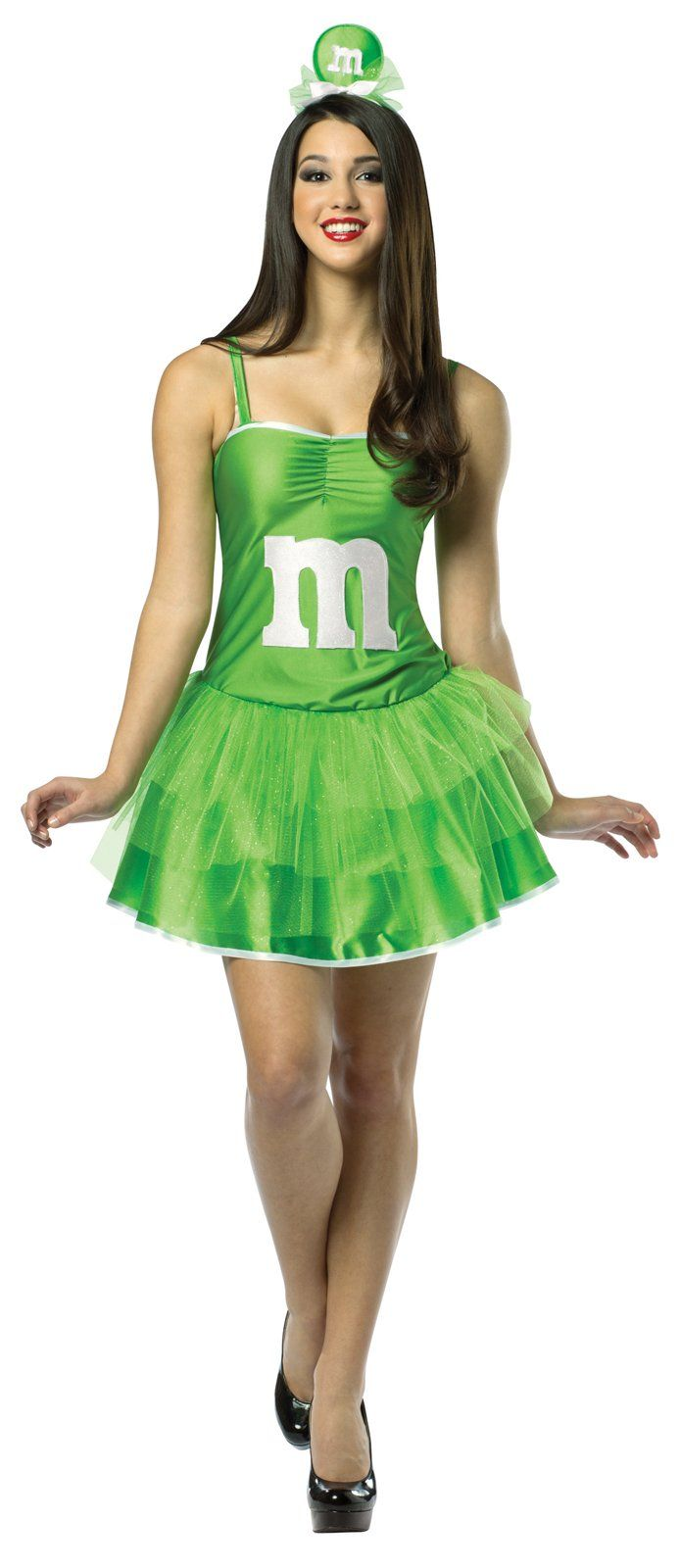 M&Ms Green Adult Party Dress