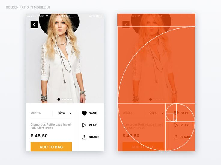 """""""Golden Ratio"""" is of great importance in the design of architecture, appliances, logos and photos. I don't want to write about it a lot…"""