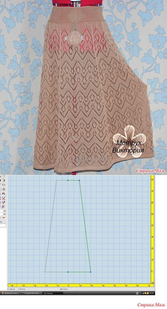 Ажурная юбка макси - Вязание - Страна Мам