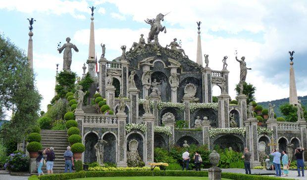 ensemble de statues-jardin isola bella
