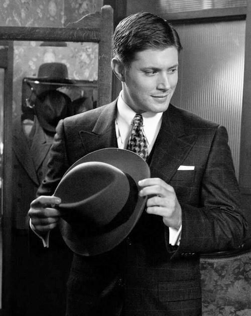 dean in B&W in 7x12 Time After Time