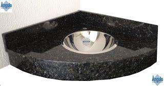 Ângulo Mármores e Granitos: Pia de Banheiro Verde Ubatuba