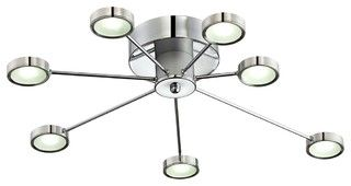 "Contemporary Retro Circles 30"" Wide LED Ceiling Light Fixture - contemporary - ceiling lighting - by Lamps Plus"