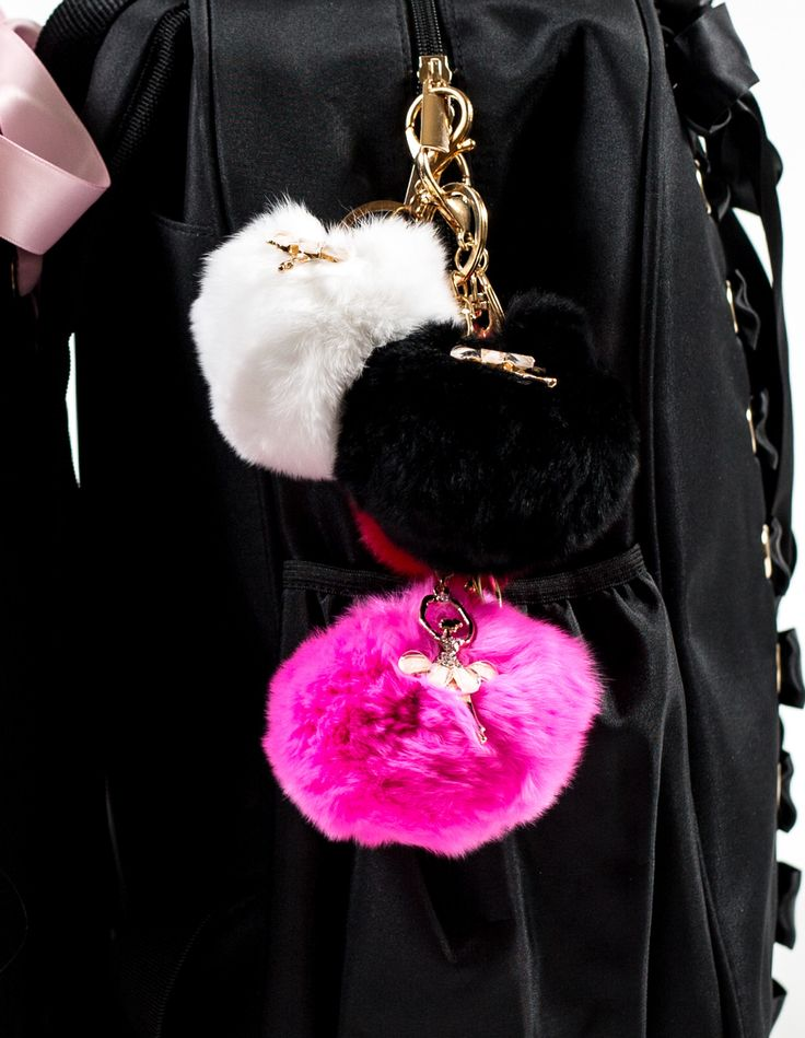 Ballerina Fur Good Luck Charm/Keychain