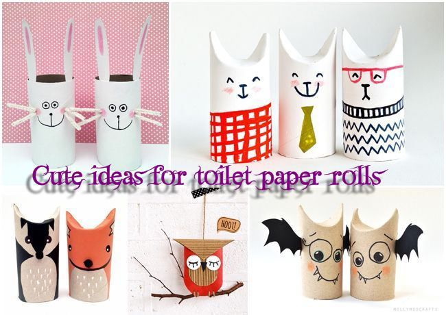 Cute ideas for amazing decorations made from toilet paper rolls