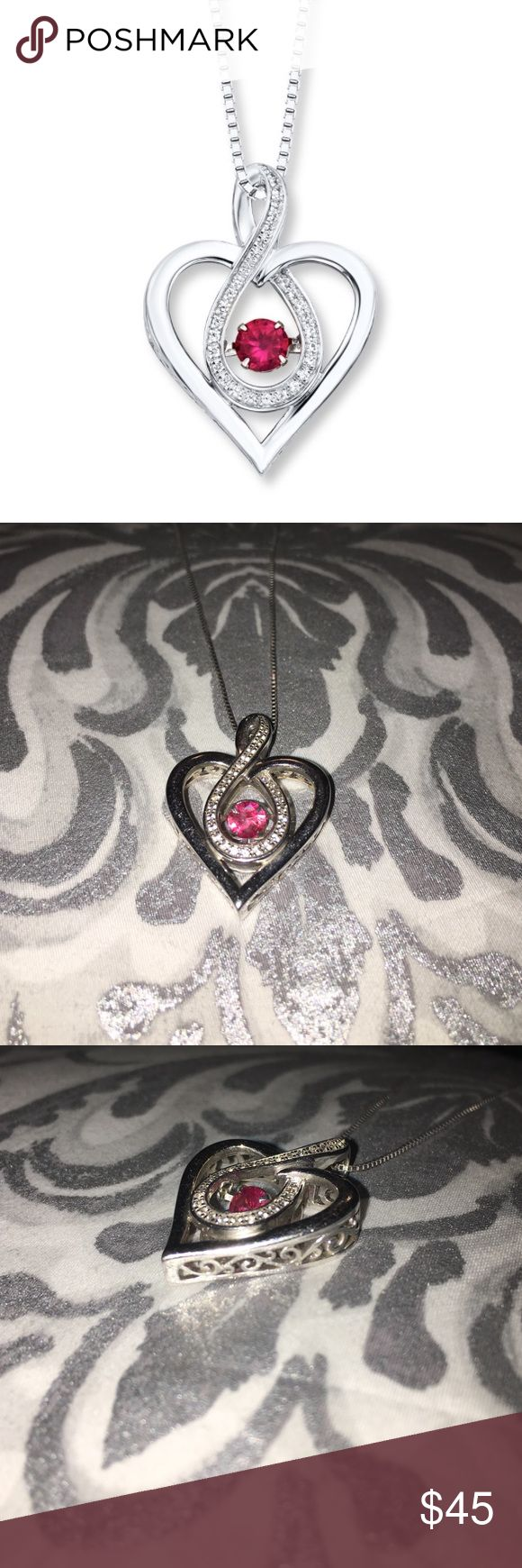 1000 ideas about Ruby Heart Necklace on Pinterest