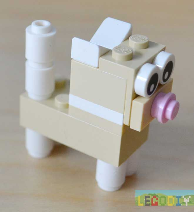 How to make little kitten from lego classic bricks. Photo instruction.