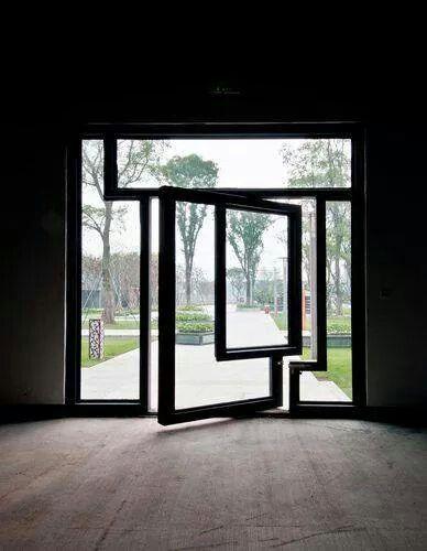 art window come door......cool, i hope the window in the door opens alone too. steal and glass win!