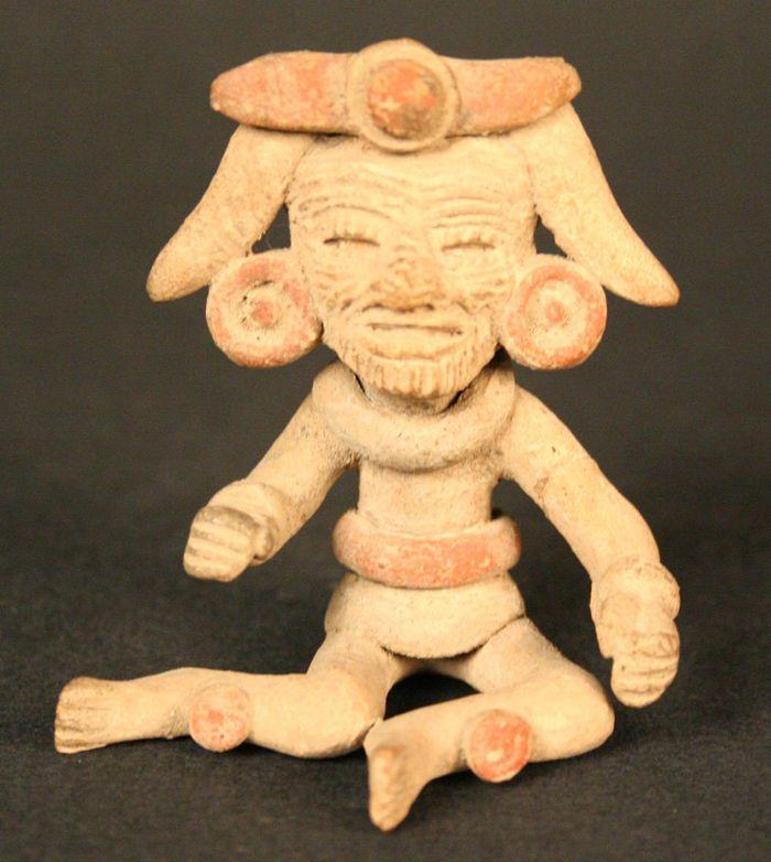 3/ TEOTIHUACAN - Museo Chileno de Arte Precolombino » Figurilla antropomorfa masculina