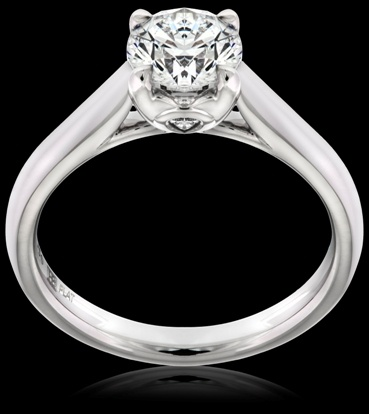 This beautiful engagement ring is available from Hardy Brothers Jewellers. It's style # 9DELYRSI.