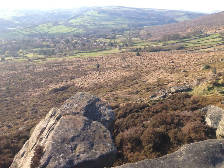 View from Curbar Edge, Hope Valley, Peak District, Derbyshire
