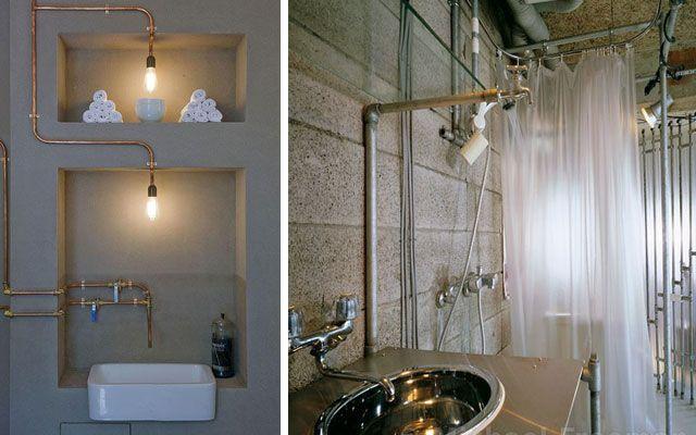Dise o de interiores decoraci n con tuber as vistas for Furnish decorador de interiores