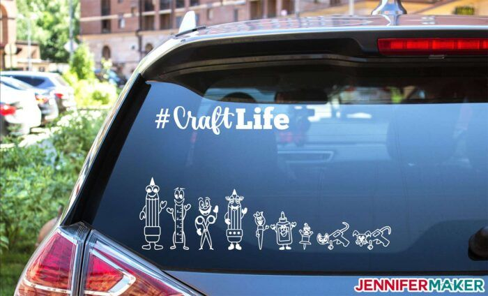 Vinyl Car Decals Quick And Easy To Make Your Own Jennifer Maker Car Decals Vinyl Car Decals Vinyl For Cars