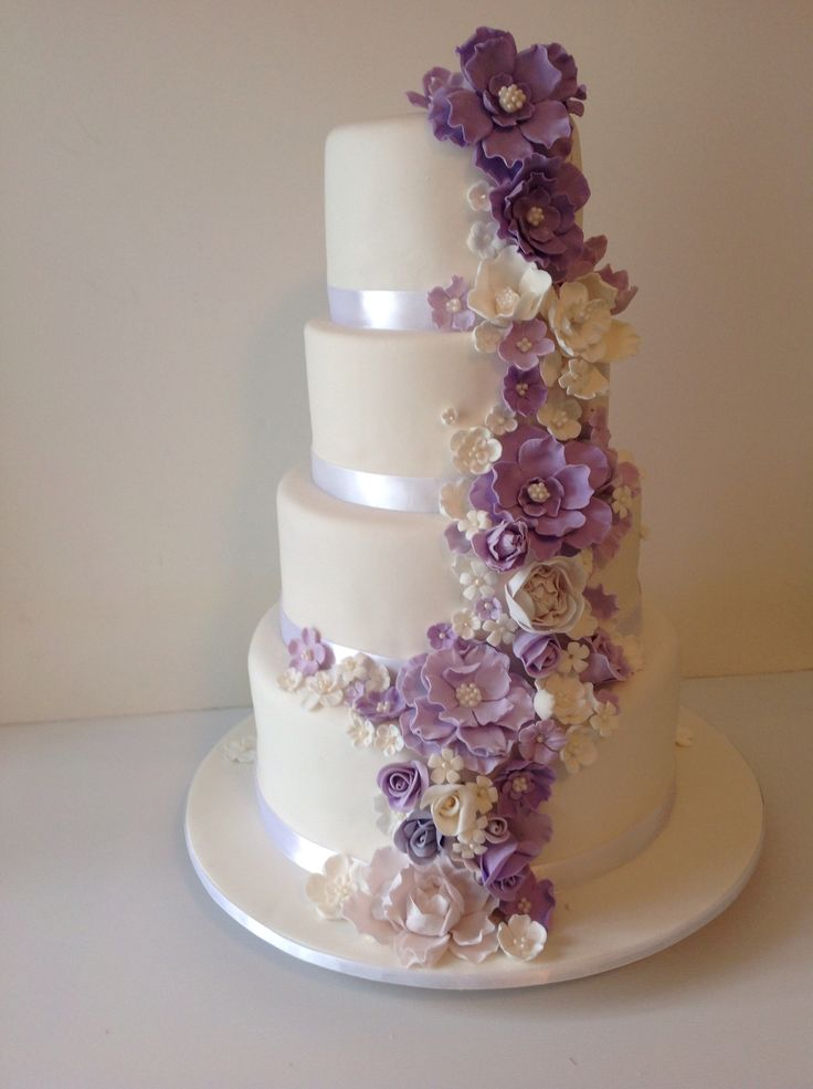Cascading wedding cake. by www.doyscakes.com.au