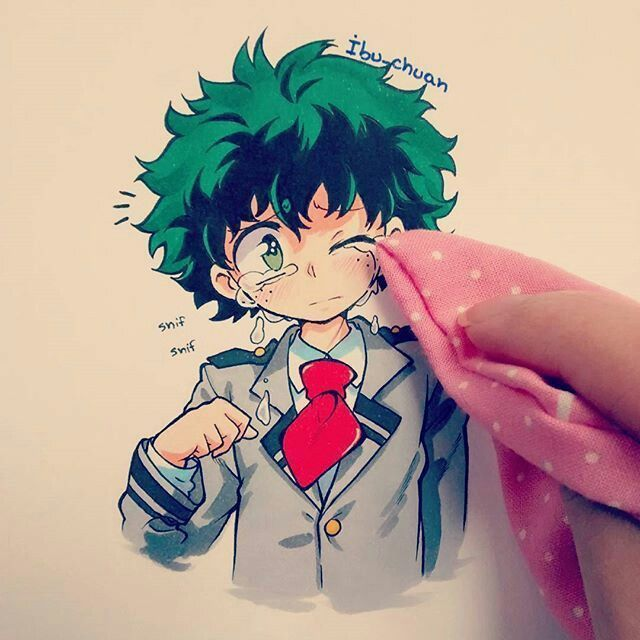 My Hero Academia Bnha Izuku Midoriya Deku Copic Marker Art Anime My Hero