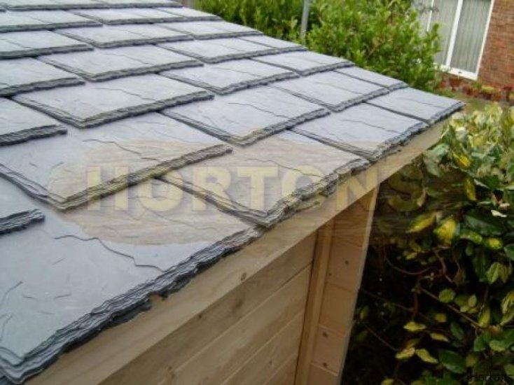 Recycled self-bonding, rubber roof tile, price per square metre [Rubtile] - £45.60 :