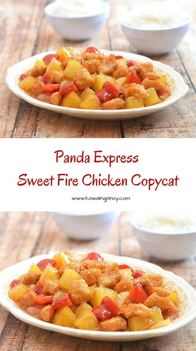 Sweet, tangy and slightly spicy, this Panda Express Sweet Fire Chicken Copycat tastes just like the original, if not better!
