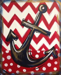 Nautical Anchor. Anchors aweigh! This nautical painting will be fun to do, and look great hanging up!