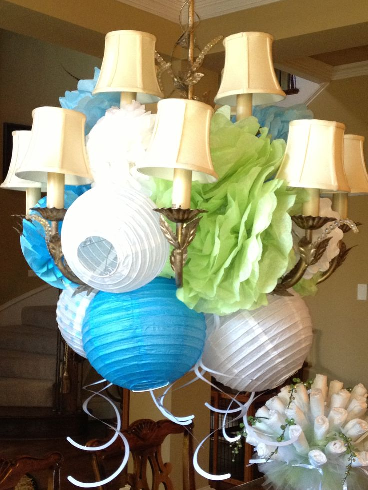 Lantern Decorations for baby shower: Shower Ideas, Boys Shower, Lantern Decorations, Baby Shower