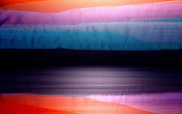 experimental photography of textiles on the seascape