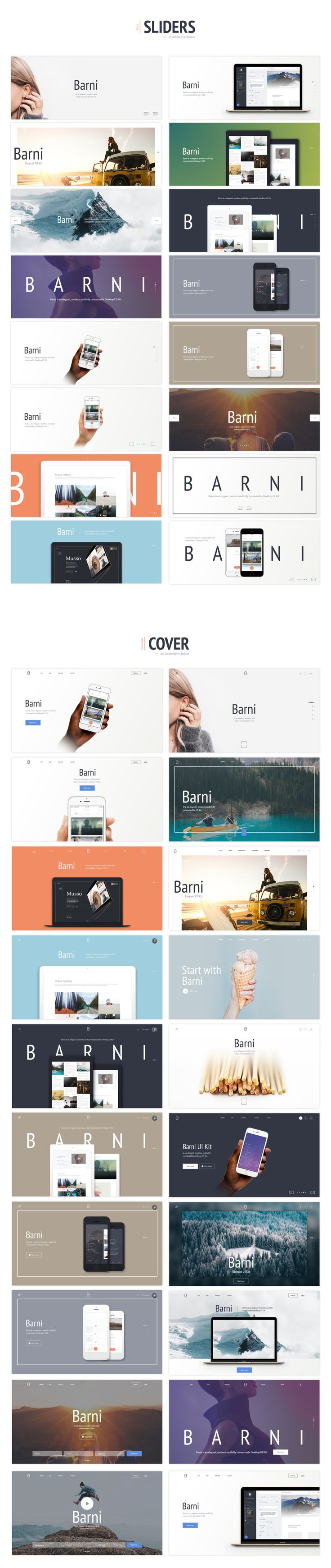 Barni for ecommerce is the third part of this Barni UI series. IIt's made out of a huge choice of 120+ awesome components specially designed for online selling. Barni for e-shop comes with exclusive components like product pages, e-shop product, Cover product login process and also with common components (Sliders, Covers , Contents and Navigation).