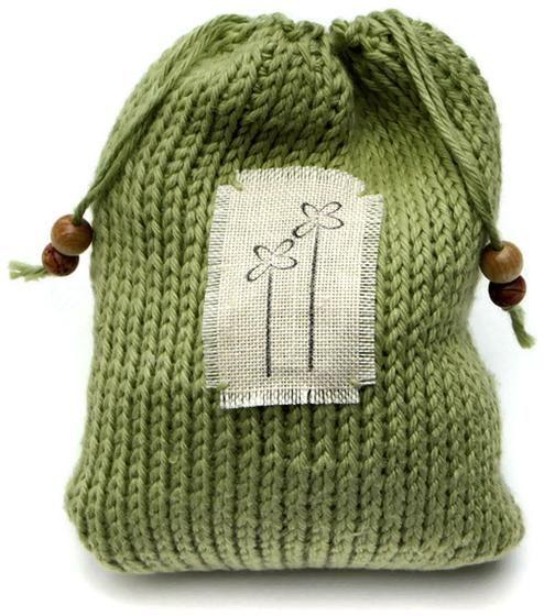 Drawstring Gift Bags - Tunisian Crochet Pattern - Knitting Patterns and Crochet Patterns from KnitPicks.com