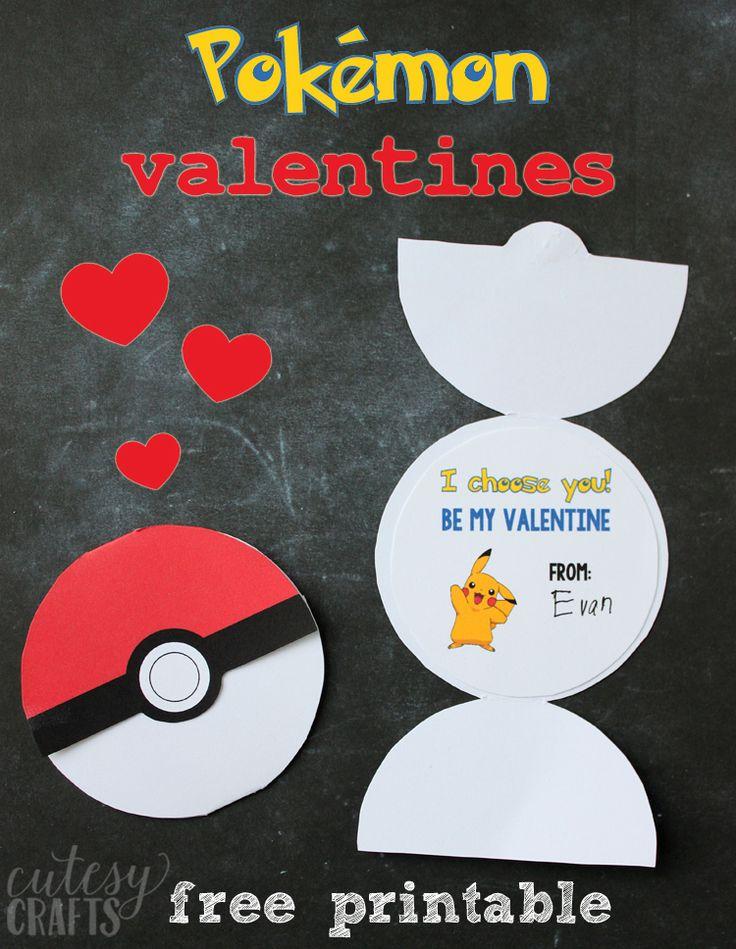 Free Printable Pokemon Valentines