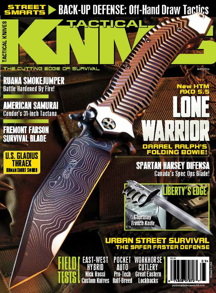 The Tactical Knives May 2014 issue goes on sale Jan 28th, newsstands and iTunes