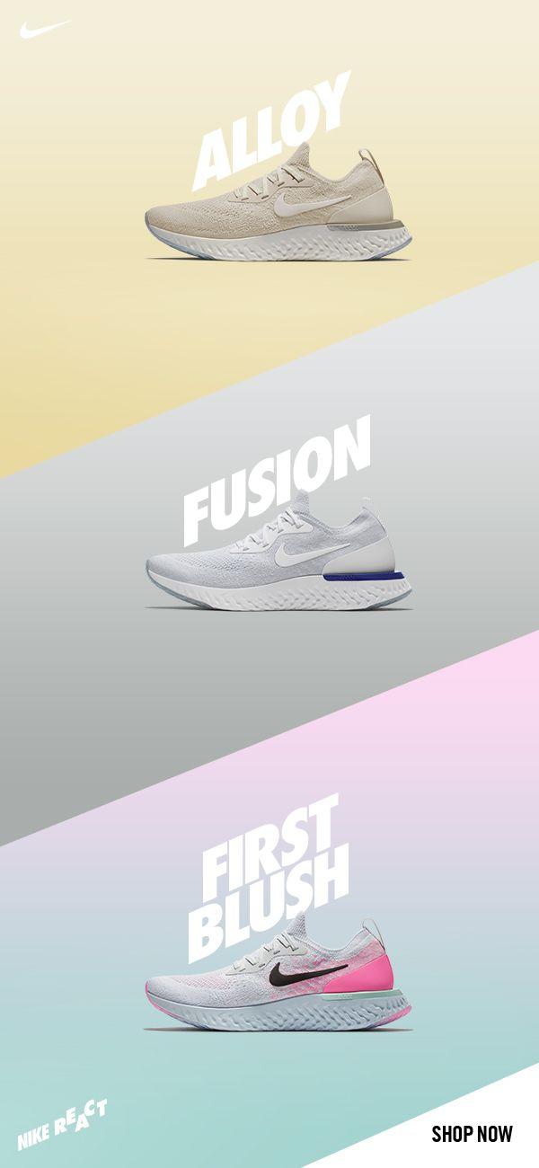 bendición curva Asistir  Nike Epic React   Nike, Shoe advertising, Shoes ads