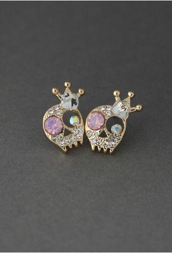 Crystal Skull Queen Earrings