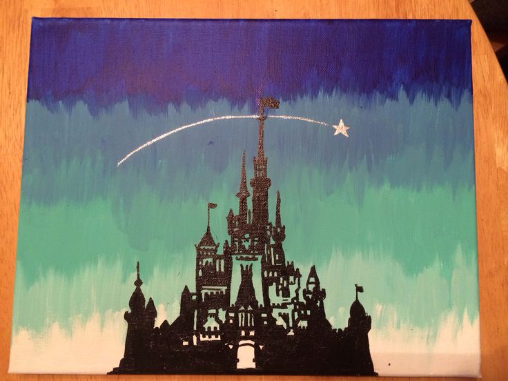 Painted by me :) Disney canvas DIY craft paint