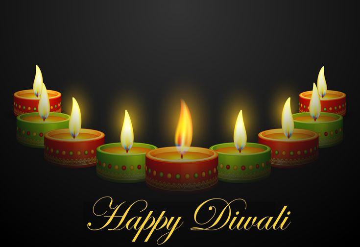 happy diwali greetings with diya