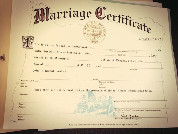 oregon marriage certificate beautiful ferree wedding