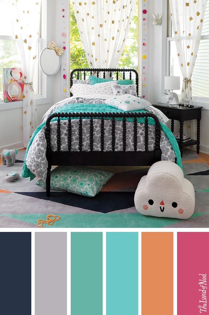Create a tween girls floral bedroom with stylish bedding and décor.