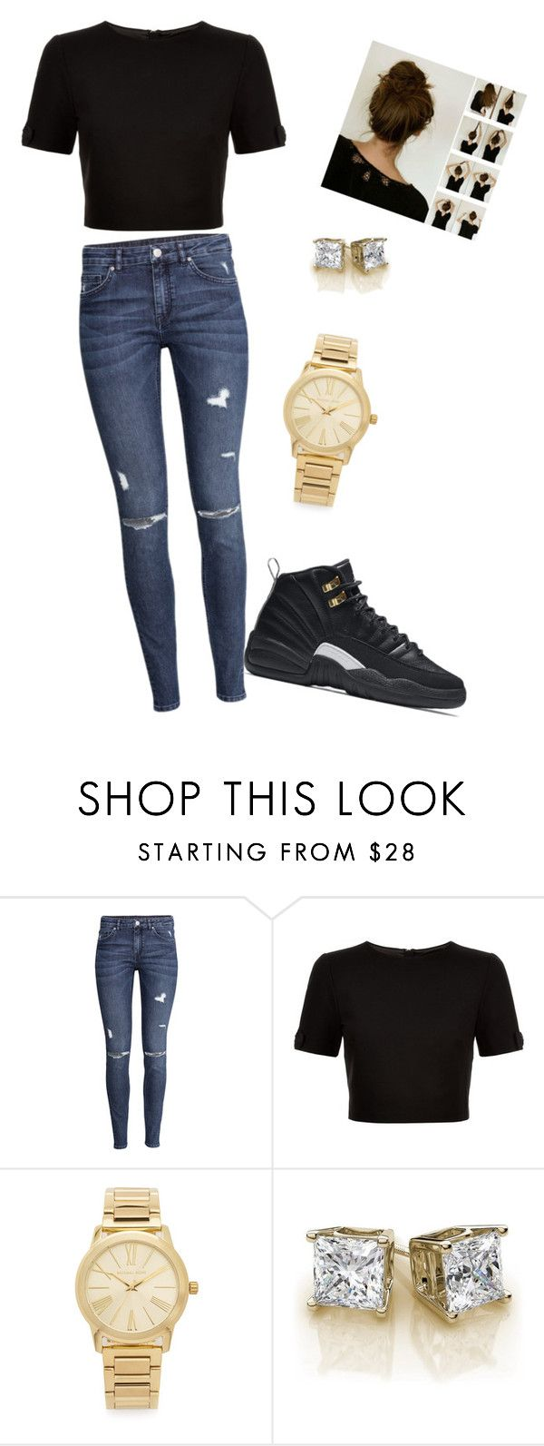 """Jordan outfit jordan 12's masters"" by wessigk ❤ liked on Polyvore featuring H&M, NIKE, Ted Baker and Michael Kors"
