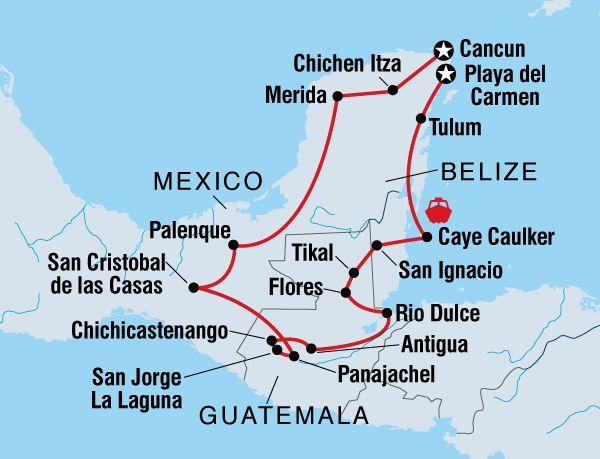 February – March 2015 Through Mexico, Guatemala and Belize, this trip combines the volcanic beauty of the highlands, the mystery of the ancient Mayan ruins, and the perfect beaches of the Caribbean in a truly unique adventure. From Cancun to Playa del Carmen, this three-week journey offers the chance to get out and get active, …