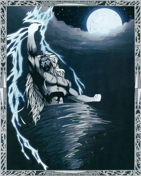 Tawhirimatea- Maori myth: the god of the weather, lighting, thunder, wind, clouds, and storms. He became angry at his brothers for separating their parents so he battled and defeated them except his brother that represented war and humans.