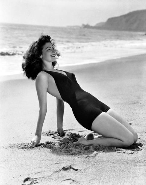 "Ava Gardner, the ""Second-Look Girl""Ava Gardner, Vintage Summer, Hollywood, Icons, Bath Suits, Beach, Pinup, Bath Beautiful, Beautiful People"
