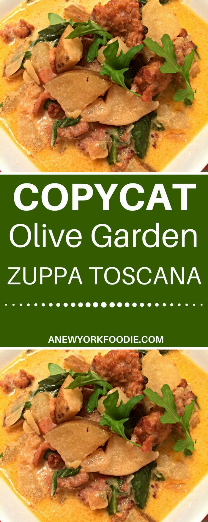 This Copycat Olive Garden Zuppa Toscana Soup is so rich and delicious and tastes so much better than the original! #soups #italianfood #recipes