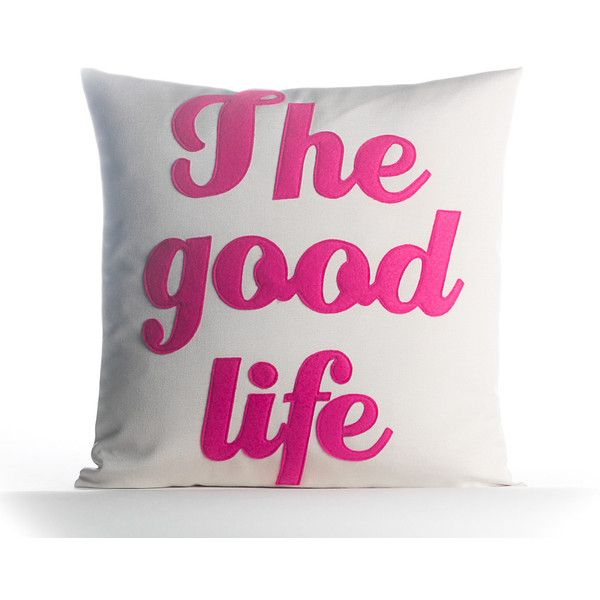 The Good Life Outdoor Throw Pillow Reviews ❤ liked on Polyvore featuring home, outdoors, outdoor decor and modern outdoor pillows