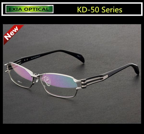 c99729f960e Optic Eyeglasses Men Brand High Quality Titanium Glasses Frame with MR-8  1.61 Ophthalmic Lenses