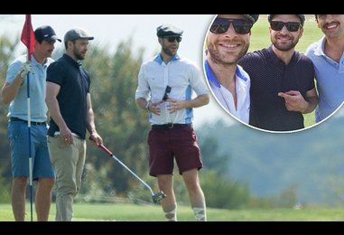 Justin Timberlake wins golfing wager against Hamish and Andy in Sydney
