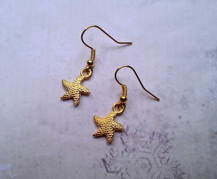 Ohrringe Seestern Gold Maritim von MiMaKaefer auf DaWanda.com