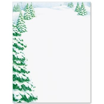 Winter Day Letter Paper