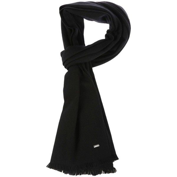Black Cashmere Scarf ($340) ❤ liked on Polyvore featuring men's fashion, men's accessories, men's scarves, black, menaccessoriesscarves and mens cashmere scarves