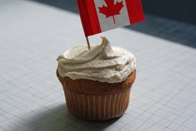 Canada+Day+Cupcake Multigrain Bread with Cherry Bourbon Butter and Maple Canada Day Cupcakes