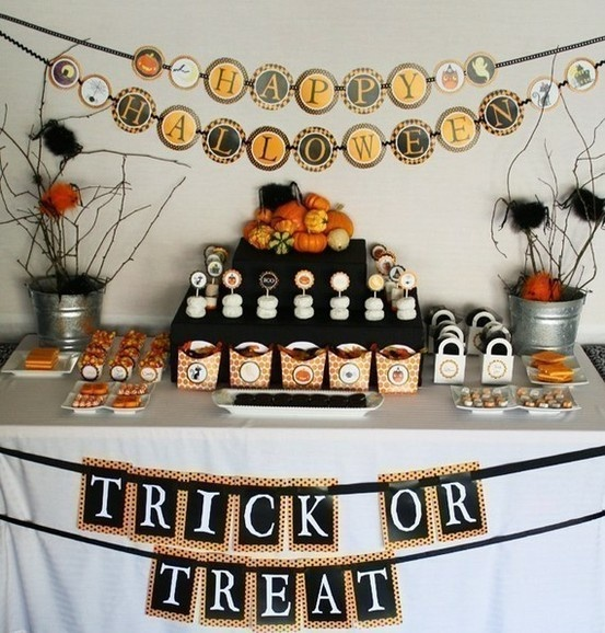 Halloween food table