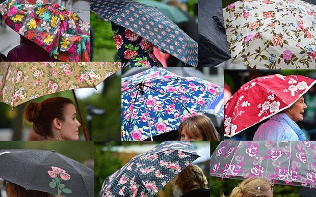 Rain is just the excuse you need to get your floral brolly out! #ChelseaFlowerShow 2015. The Telegraph